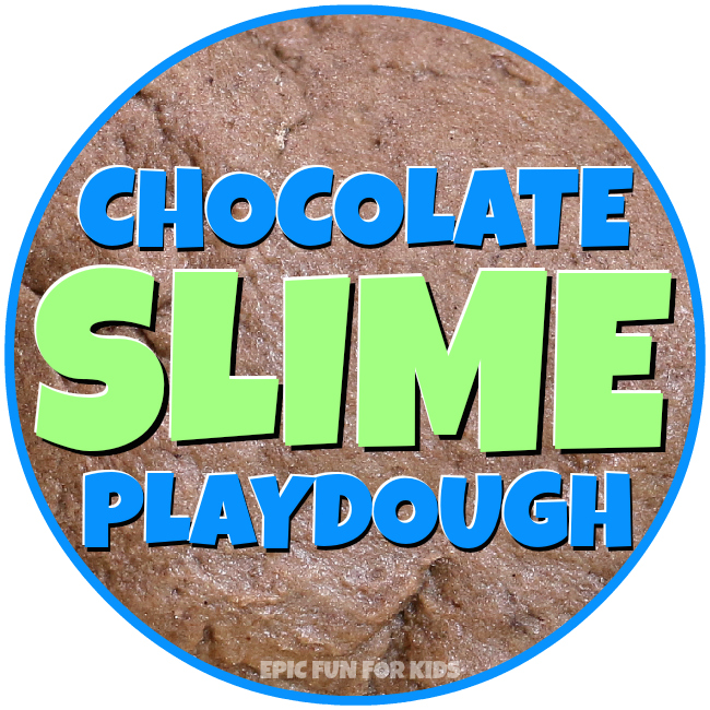 This chocolate slime play dough is wobbly and slimy, but holds it shape surprisingly well, making it perfect for building and squishing!
