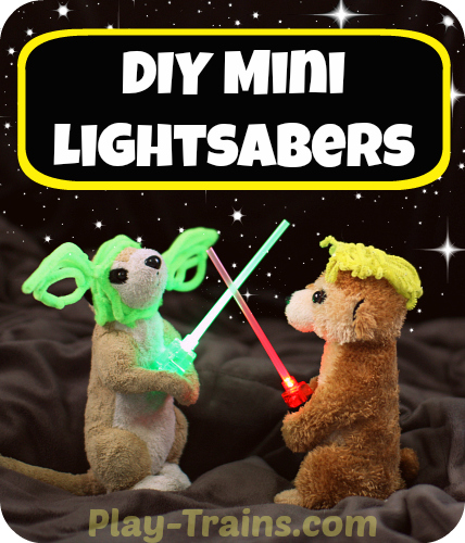 DIY Mini Lightsabers Kids Craft pin