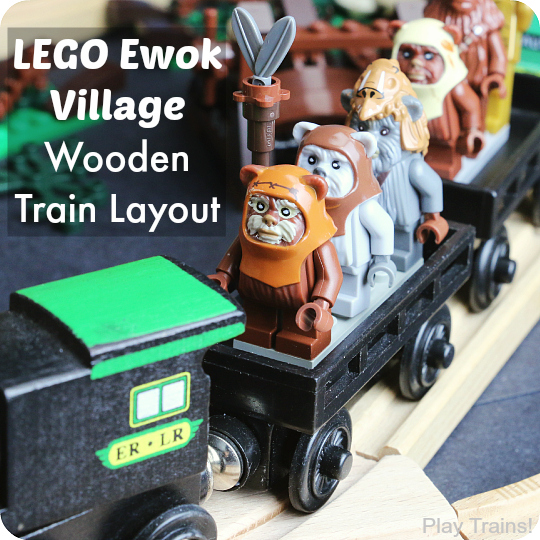 LEGO Ewok Village Set Wooden Train Layout square 540