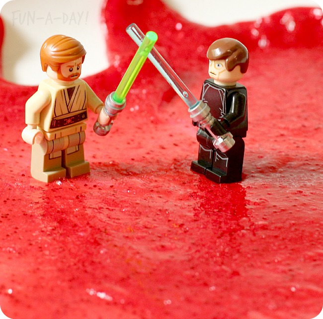 Obi-Wan-and-Anakin-battle-on-Mustafar-created-with-molten-lava-slime-for-kids