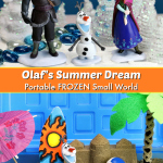 FROZEN-inspired Olaf's Summer Dream Portable Sensory Bin.